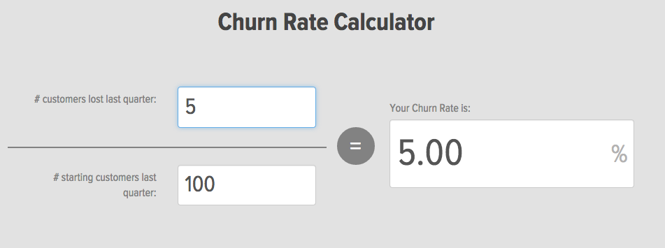 Churn Rate Calculator