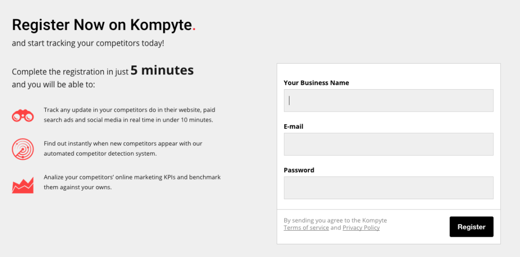 Register For Kompyte For Free