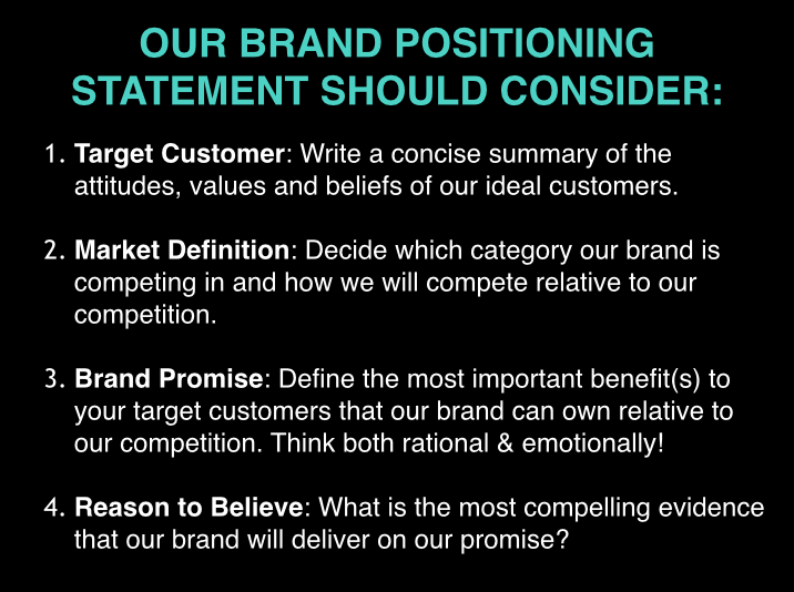 Brand Positioning Statement Key Features