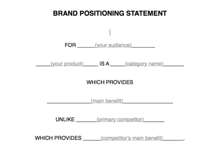 Brand Positioning Statement