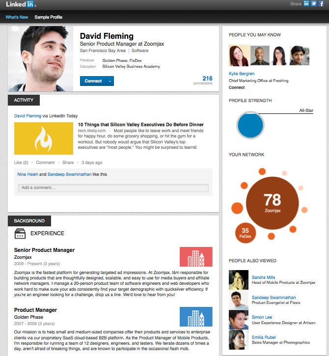 Optimize Employees' LinkedIn Profiles