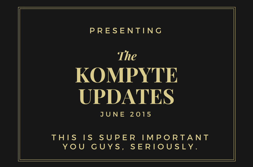 New Kompyte Product Updates and How To Use Them