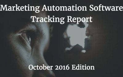 Tracking Report: Marketing Automation Software – October 2016