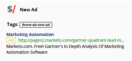 Marketo AB test gartner - kompyte