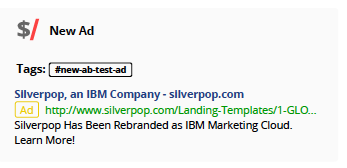 Silverpop AB Testing Google Adwords - Marketing Automation Tracking Report Kompyte