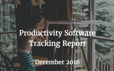 Tracking Report: Productivity Software – December 2016