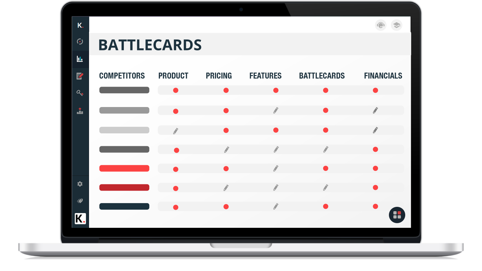 competitor sales battle cards